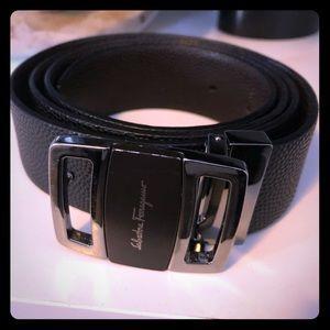 Black Ferragamo Belt